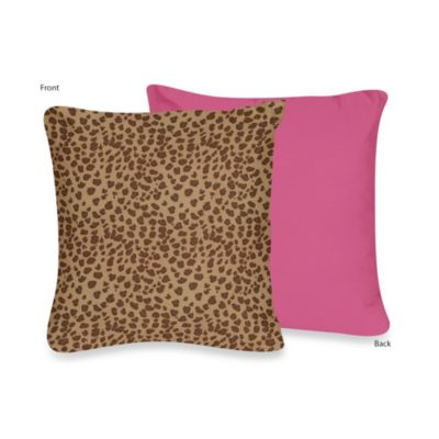 Sweet Jojo Designs Cheetah Girl Throw Pillow