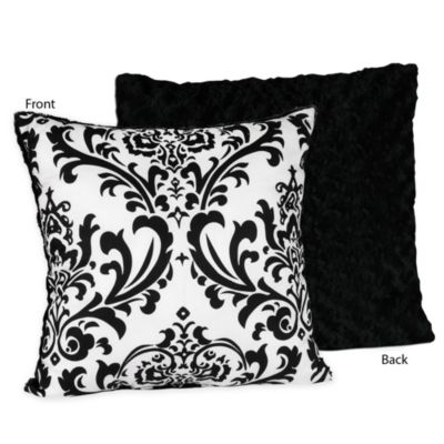 Isabella Throw Pillow in Black/White