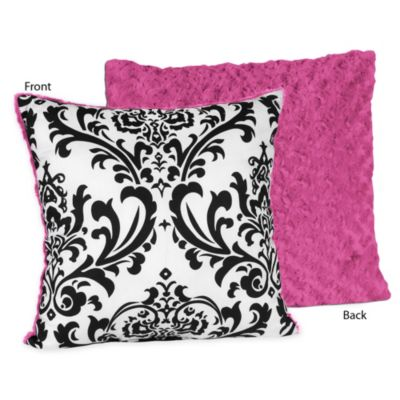 Pink Square Decorative Pillow