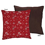 Sweet Jojo Designs Wild West Decorative Pillow in Bandana Print