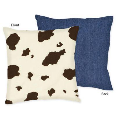 Sweet Jojo Designs Cowgirl Wild West Throw Pillow