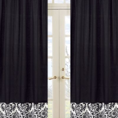 Sweet Jojo Designs Isabella Window Panel Pair in Black and White