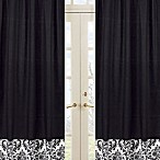 Sweet Jojo Designs Isabella Window Panel Pair in Black/White
