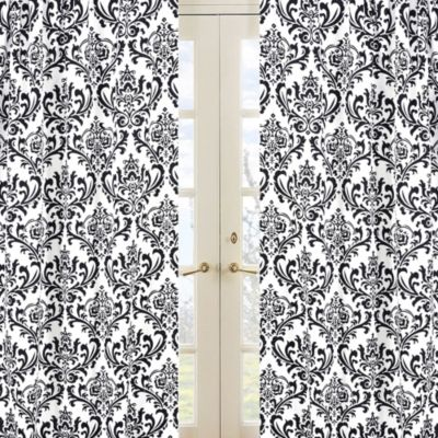 Isabella Window Curtain Panel Set in Damask