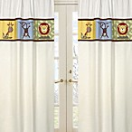 Sweet Jojo Designs Jungle Time Window Panels in Ivory