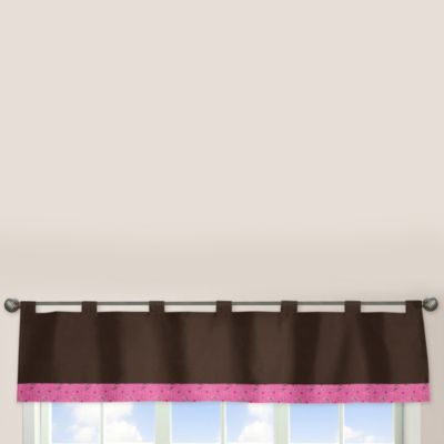 Brown Pink Window Valance