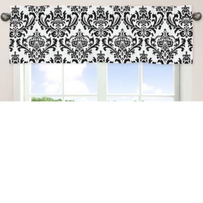 Sweet Jojo Designs Isabella Window Valance in Black/White