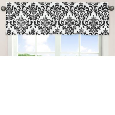 Sweet Jojo Designs Isabella Window Valance in Hot Pink