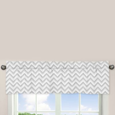Sweet Jojo Designs Zig Zag Window Valance in Turquoise/Grey