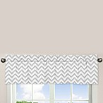 Sweet Jojo Designs Zig Zag Window Valance in Turquoise/Grey