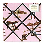 Sweet Jojo Designs Cowgirl Horse Print Fabric Memo Board