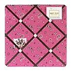 Sweet Jojo Designs Cowgirl Bandana Print Fabric Memo Board