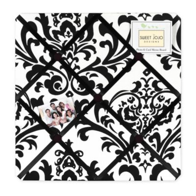 Isabella Fabric Memo Board in Black/White