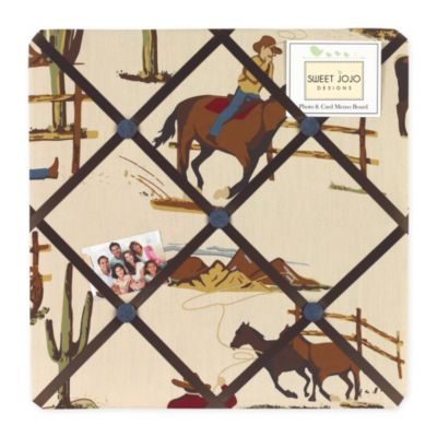 Sweet Jojo Designs Wild West Fabric Memo Board in Cowboy Print