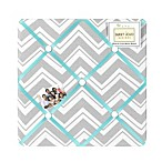 Sweet Jojo Designs Zig Zag Memo Board in Turquoise/Grey