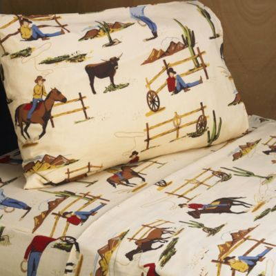 Sweet Jojo Designs Wild West Cowboy Twin Sheet Set in Horse Print