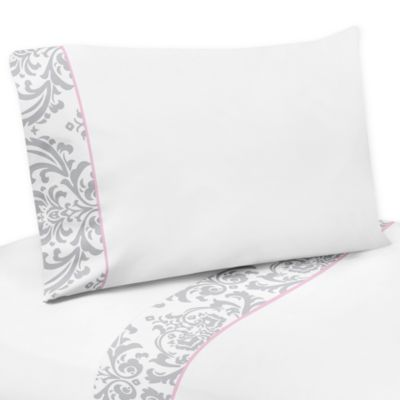 Sweet Jojo Designs Elizabeth 4-Piece Twin Sheet Set in Pink/Grey