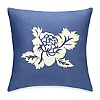 Indigo Bloom Square Toss Pillow