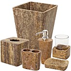 India Ink Louis Dark Travertine Bath Ensemble