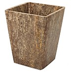 India Ink Louis Dark Travertine Waste Basket