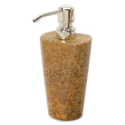 India Ink Louis Dark Travertine Lotion Dispenser