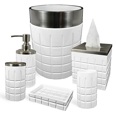 hotel ceramic bathroom accessories bed bath beyond. Black Bedroom Furniture Sets. Home Design Ideas