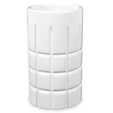 Hotel ceramic bathroom tumbler bed bath beyond for White bathroom tumbler