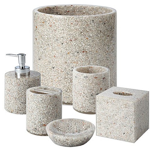Palm springs bathroom accessories bed bath beyond for Spring bathroom decor
