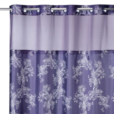 Hookless® 71-Inch x 74-Inch Majestic Scroll Shower Curtain and Liner