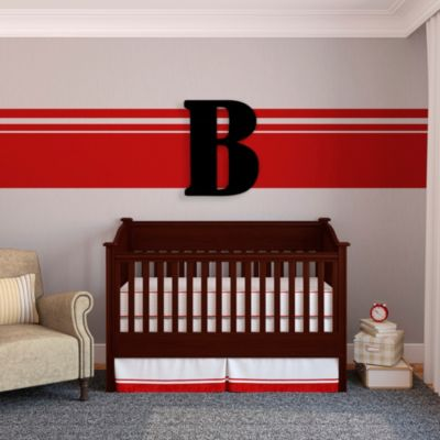 "Munch™ Oversized Black Wood Letter Wall Art ""B"""