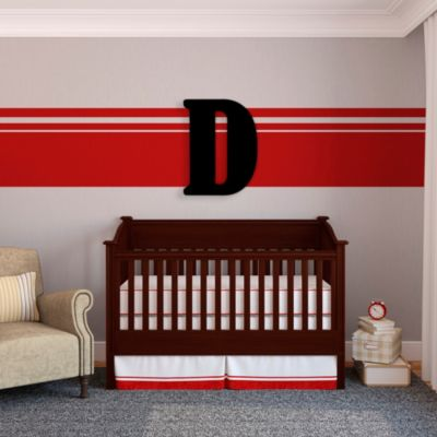 "Munch™ Oversized Black Wood Letter Wall Art ""D"""