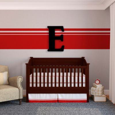 "Munch™ Oversized Black Wood Letter Wall Art ""E"""