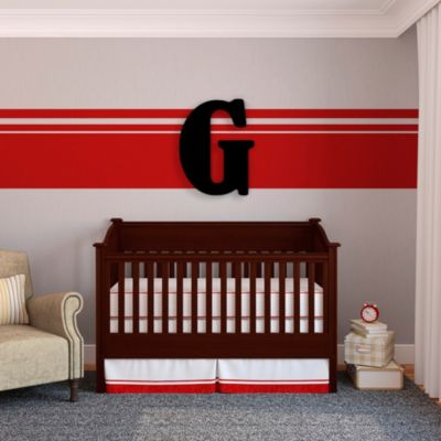 "Munch™ Oversized Black Wood Letter Wall Art ""G"""