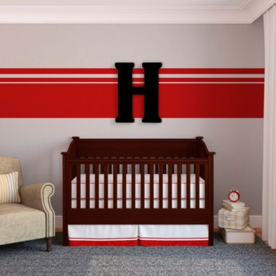 "Munch™ Oversized Black Wood Letter Wall Art ""H"""