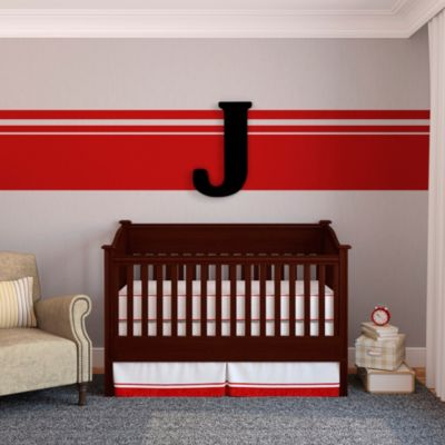 "Munch™ Oversized Black Wood Letter Wall Art ""J"""