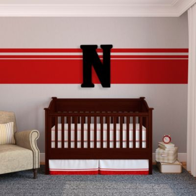 "Munch™ Oversized Black Wood Letter Wall Art ""N"""