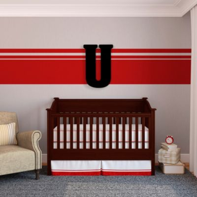 "Munch™ Oversized Black Wood Letter Wall Art ""U"""