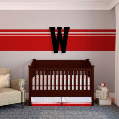 "Munch™ Oversized Black Wood Letter Wall Art ""W"""