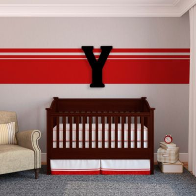 "Munch™ Oversized Black Wood Letter Wall Art ""Y"""