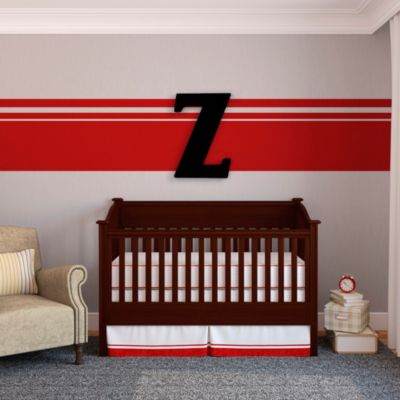 "Munch™ Oversized Black Wood Letter Wall Art""Z"""