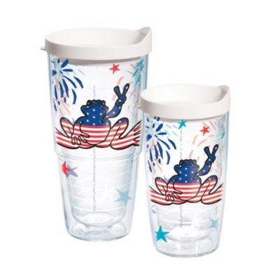 Tervis® American Flag Peace Frog Tumbler with Lid