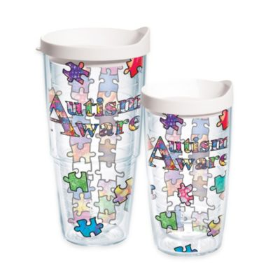 Autism Awareness 24 oz Tumbler with Lid