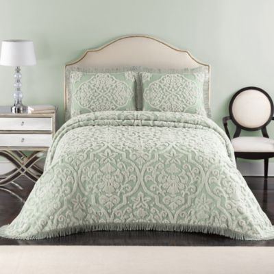 Layla Standard Pillow Sham in Green/Linen
