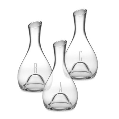 Susquehanna Glass 56-Ounce Monogram Script Letter Punted Glass Carafe