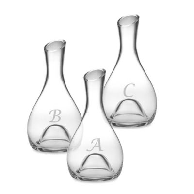 Susquehanna Glass 56-Ounce Monogram Letter Punted Glass Carafe