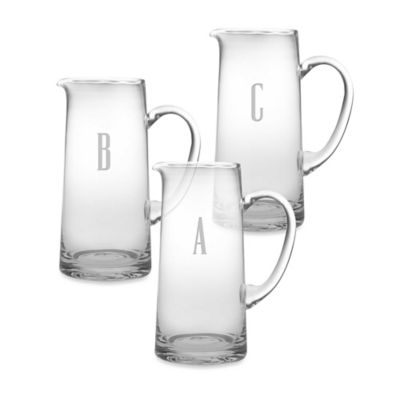 "Monogrammed Block Letter ""A"" Pitcher"