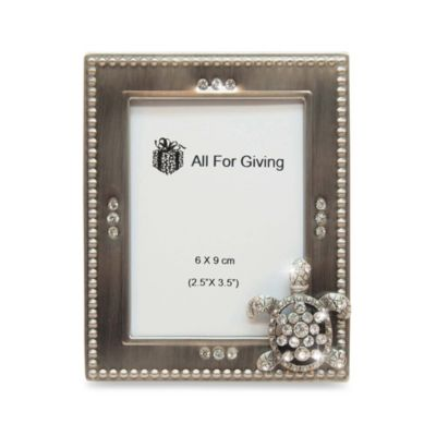 All For Giving Turtle Metal and Crystal Photo Frame
