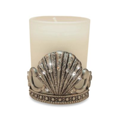 All For Giving Seashell Metal and Crystal Votive Candleholder