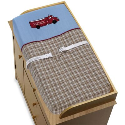 Sweet Jojo Designs Frankie's Fire Truck Changing Pad Cover