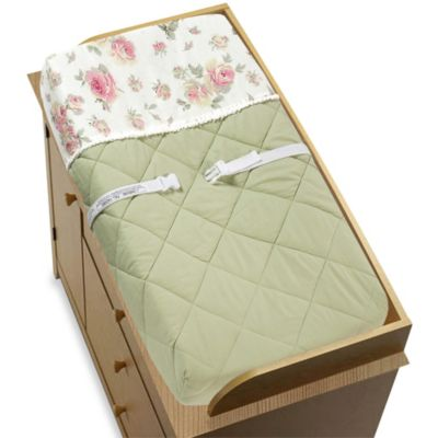 Sweet Jojo Designs Riley's Roses Changing Pad Cover